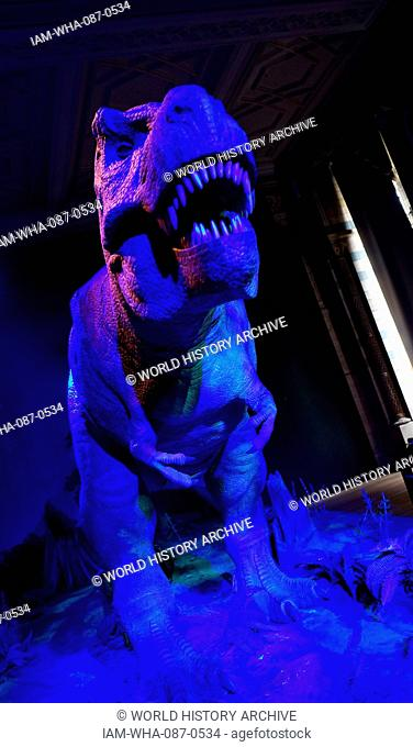 Animatronic Dinosaur (T-Rex). Animatronics refers to the use on robotic devices to emulate lifelike characteristics to an otherwise inanimate object