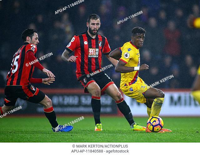 2017 Premier League Football Bournemouth v Crystal Palace Jan 31st. January 31st 2017, Vitality Stadium, Bournemouth, Dorset