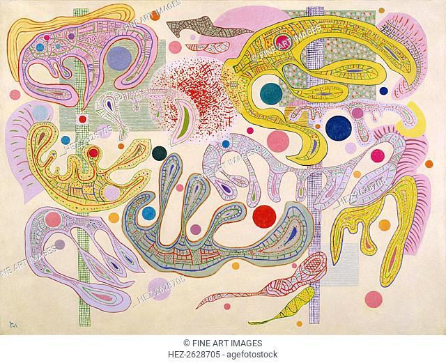 Capricious Forms (Formes capricieuses), 1937. Artist: Kandinsky, Wassily Vasilyevich (1866-1944)