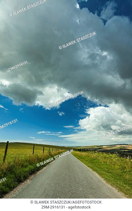 Summer day in South Down National Park near Brighton, West Sussex, England