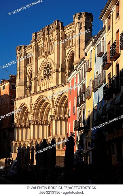 Cathedral in the Plaza Mayor. Cuenca. Spain