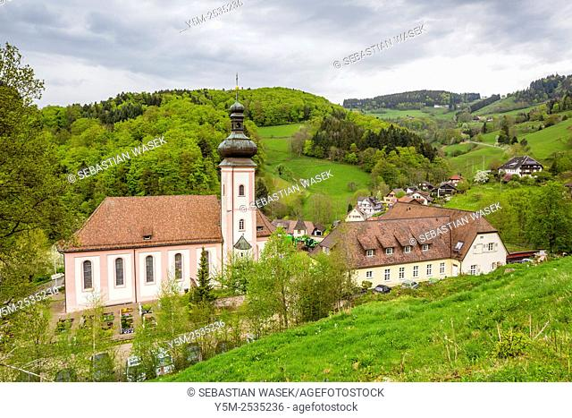 Monastery Church of Sankt Ulrich, Black Forest, Baden-Württemberg, Germany