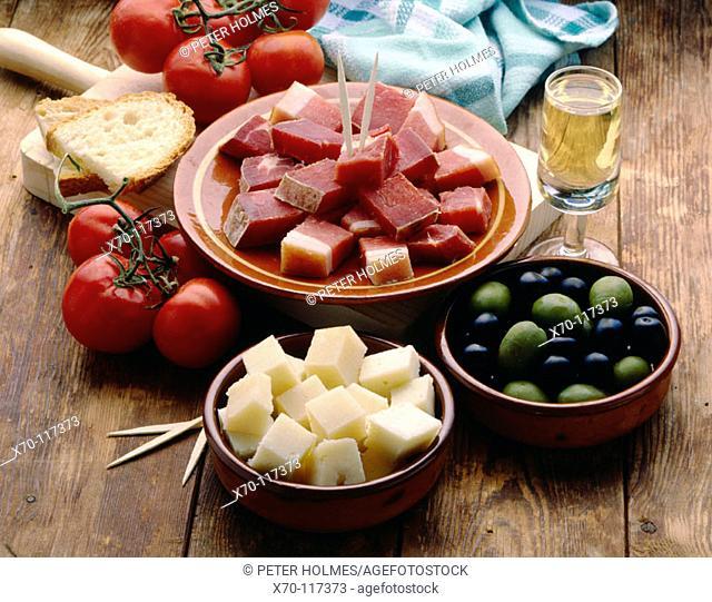 'Tapas', Spanish snacks