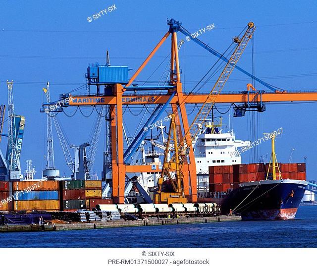 Container port, Antwerp, Belgium