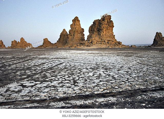 Djibouti, Abbe lake area, landscape