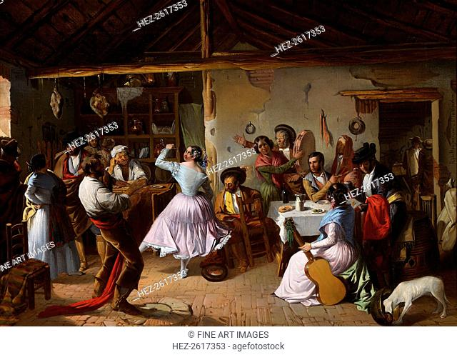 Dance at a Country Inn. Artist: Benjumea, Rafael (c. 1825-c. 1887)