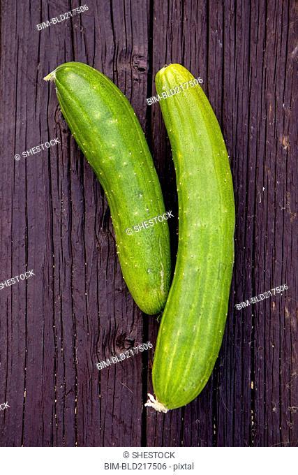 Close up of fresh cucumbers