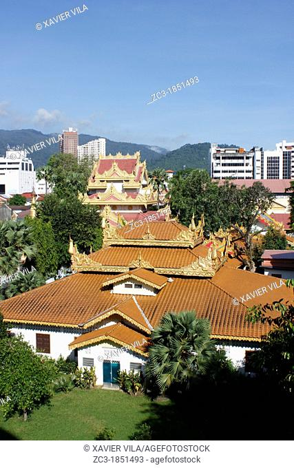 The Dhammikarama Burmese Temple, Georgetown, Penang, Malaysia