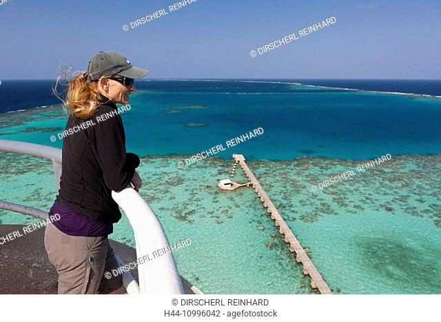 View from Sanganeb Lighthouse, Red Sea, Sudan