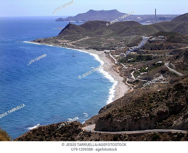 Beach Landscape Carboneras  Almería  Andalusia  Spain  Europe