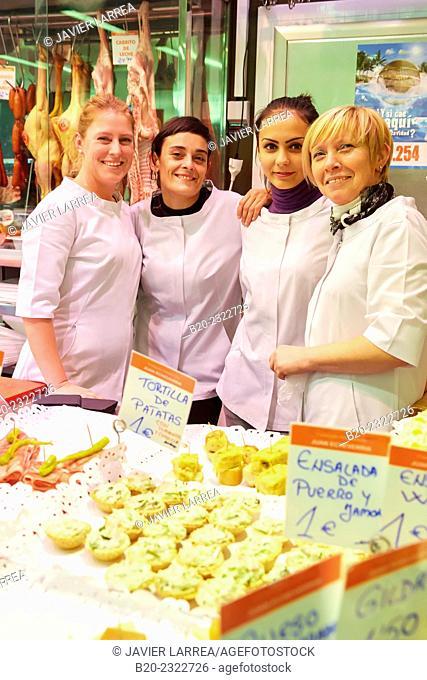 Pintxos, Butcher, Gastro Pote, San Martin market, Donostia, San Sebastian, Basque Country, Spain