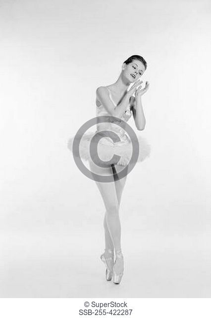 Studio shot of ballerina