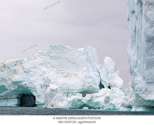 Ilulissat Icefjord also called kangia or Ilulissat Kangerlua at Disko Bay. The icefjord is listed as UNESCO world heritage