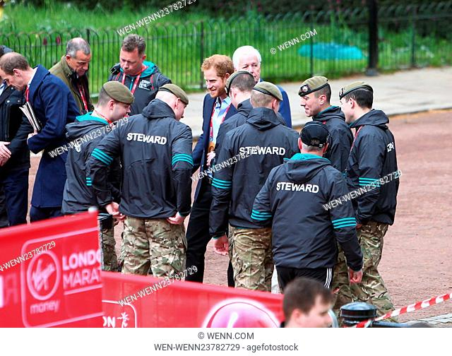 2016 Virgin Money London Marathon Featuring: Prince Harry Where: London, United Kingdom When: 24 Apr 2016 Credit: WENN.com