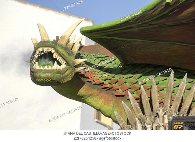 MOTA DEL CUERVO, CUENCA, SPAIN: Great parade of Carnival