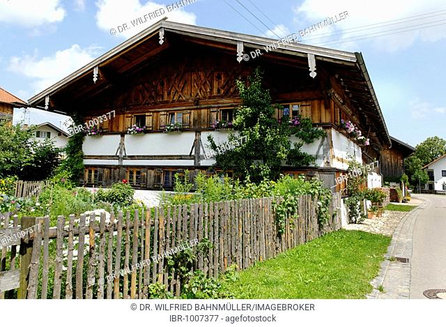 Farm house, Trauchgau, Swabia, Bavaria, Germany, Europe