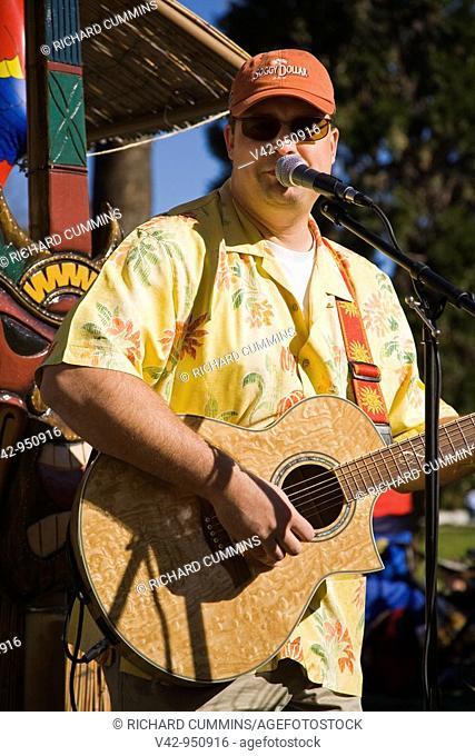 Musician, Doo Dah Parade, Pasadena, Los Angeles, California, USA