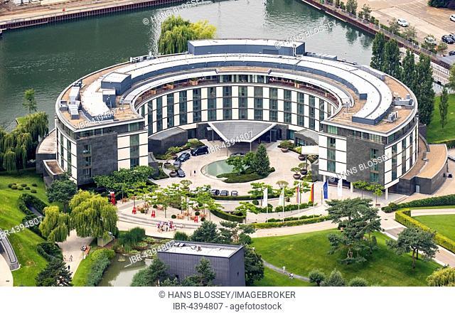 Aerial view, Ritz Carlton Hotel, Wolfsburg, Lower Saxony, Germany
