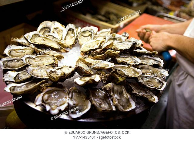 Oyster dish  Nantes, Loire, France, Europe