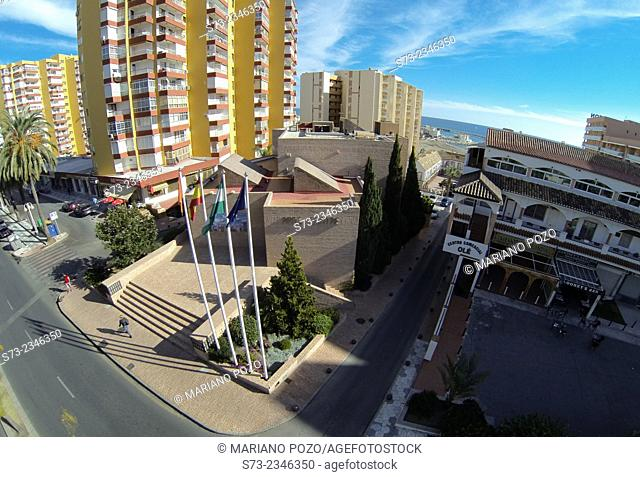 Benalmádena Art Center aerial view, Málaga, Andalusia, Spain