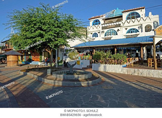 shops and restaurants in Puerto Baquerizo Moreno, Ecuador, Galapagos Islands, San Cristobal