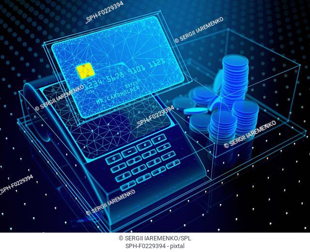 Online banking, conceptual illustration