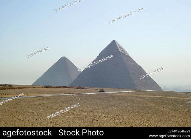 Cheops Pyramide und Chephren Pyramide