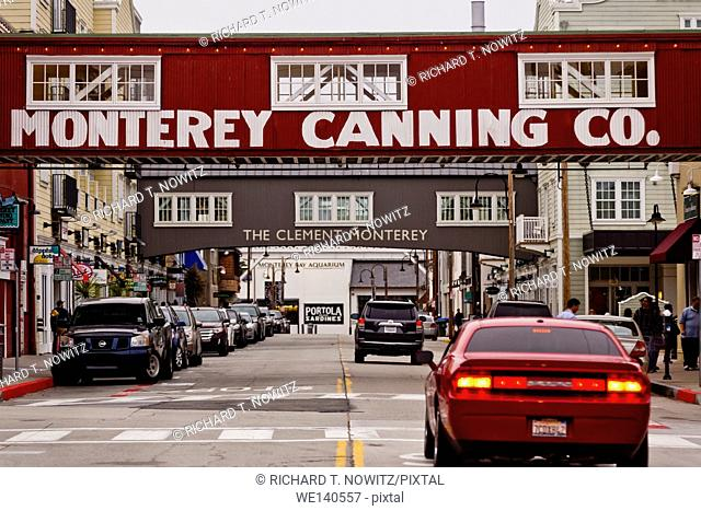 Historic Cannery Row in Monterey, California