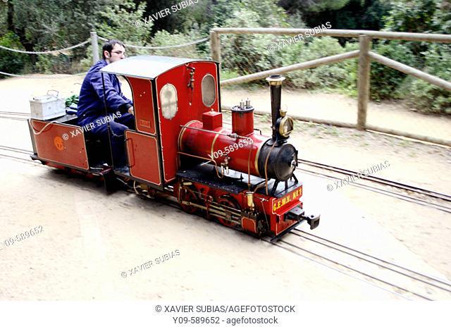 Miniature train, Parc del Castell de l'Oreneta, Barcelona. Spain