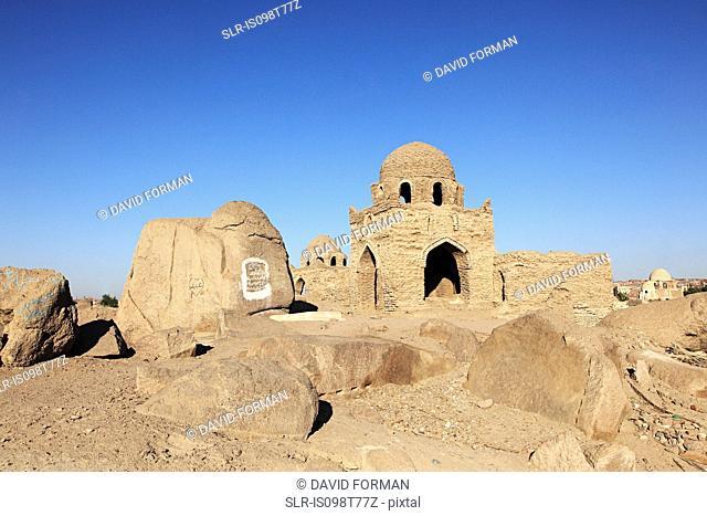 Ancient muslim cemetery in aswan