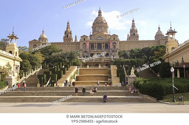 Palau Nacional art museum, Barcelona, Spain