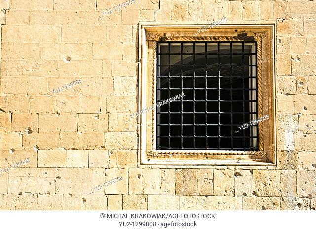 Detail of old building in Dubrovnik