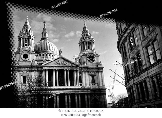 View of St. Paul's Cathedral, London, England