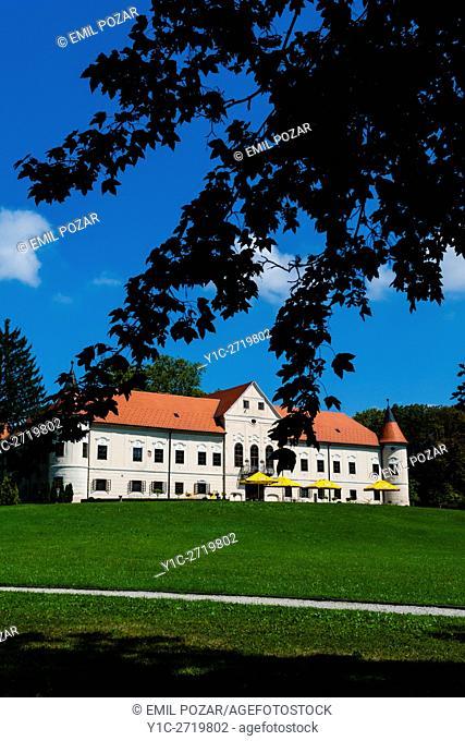 Luznica near Zapresic Zagreb in Croatia and its park