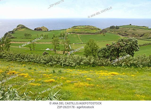 Mirador da Vigia lookout in Sao Miguel island Azores Portugal