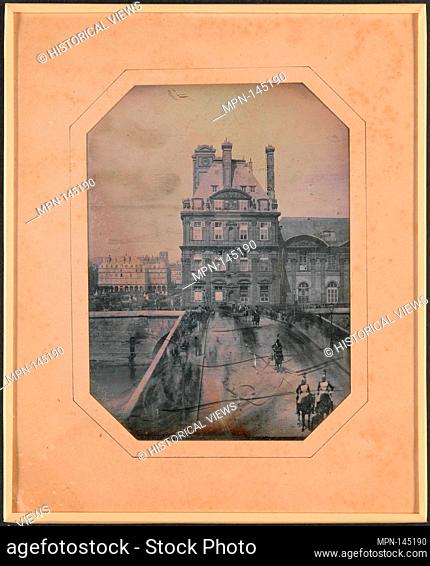 Défilé sur le Pont-Royal. Artist: Marie-Charles-Isidore Choiselat (French, 1815-1858); Artist: Stanislas Ratel (French, 1824-1904); Date: May 1