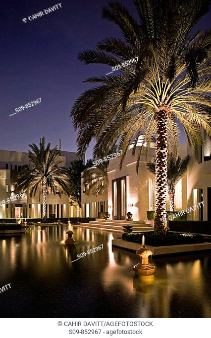 The accomodation quarter of the luxury 5 star Chedi Hotel resort in Ghubrah, Muscat, Oman