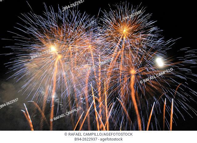 La Merce Festival, Fireworks, Barcelona, Catalonia, Spain