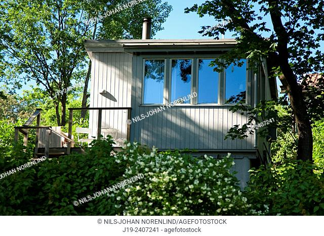 Garden house.Stockholm Sweden