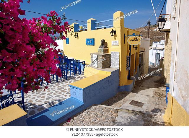 Taverna of Rebetiko musician Markos Vamvakaris   aµßa  195 - 1972 , Ano Syros, Syros Island  S  , Greek Cyclades Islands