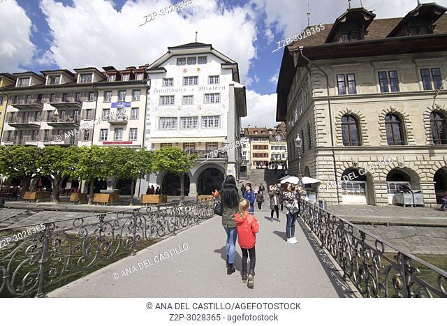 Cityscape in Luzern. Switzerland