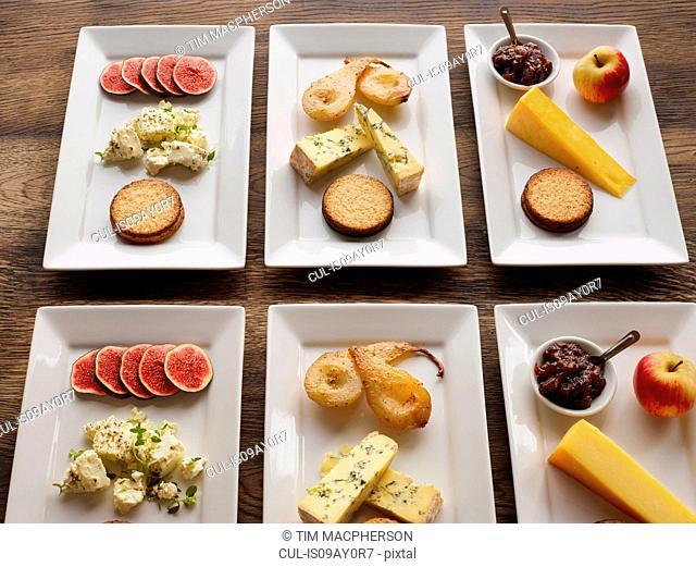 Selection of cheeseboards