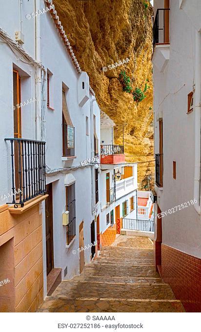 Street between the rocks in Setenil de las Bodegas, Cadiz