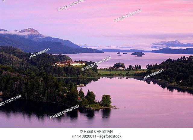 Hotel Llao Llao and Lago Nahuel Huapi, Parque Natiocal Nahuel Huapi, San Carlos de Bariloche, Rio Negro, Patagonia, Ar