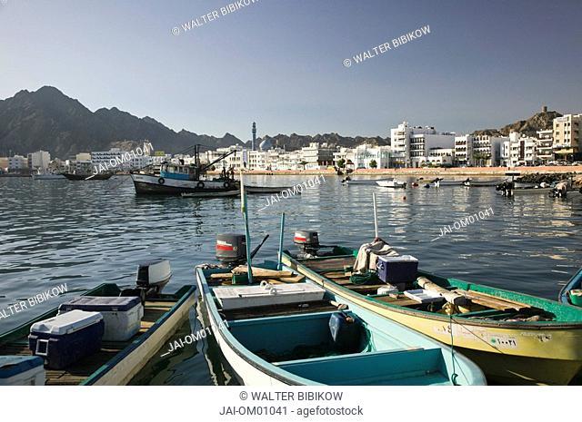 Oman, Muscat, Mutrah, Mutrah Corniche View from Fish Market