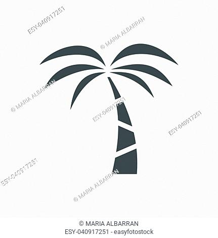 Palm tree icon on a white background. Vector illustration