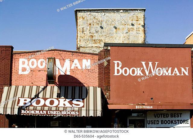 Bookman & Bookwoman Bookstores on Broadway. Nashville. Tennessee. USA