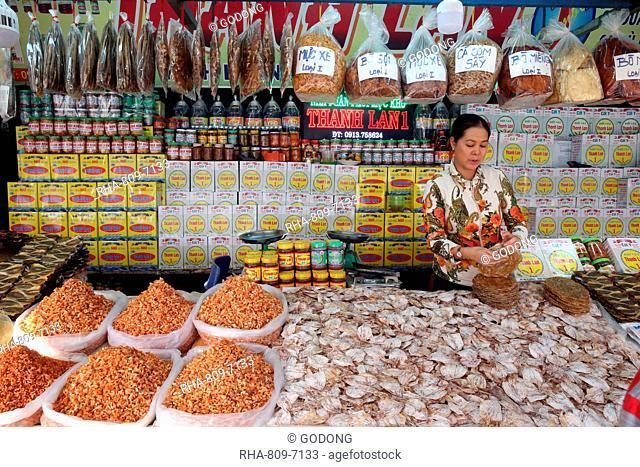 Vung Tau fish market, dried fish for sale, Vung Tau, Vietnam, Indochina, Southeast Asia, Asia
