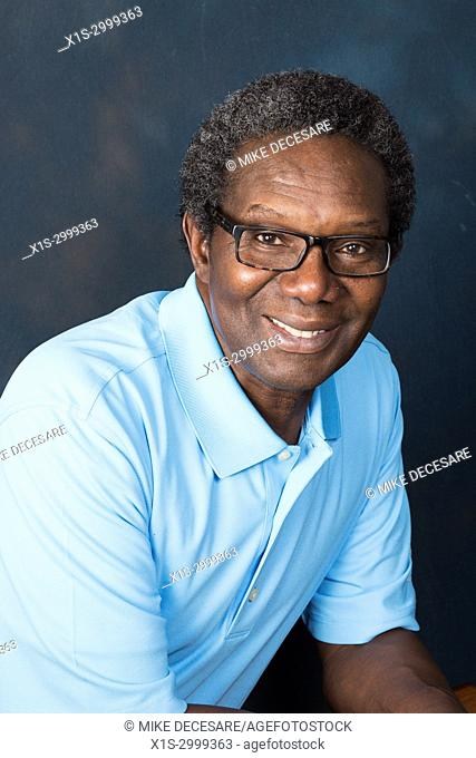An African American man is proud, confident and expressive in pictures shot in a studio in Spokane, in Eastern Washington