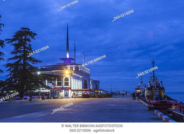 Georgia, Batumi, Port of Batumi, Batumi Sea Station, dawn